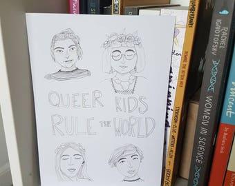 Queer Kids Rule The World A5 Digital Print