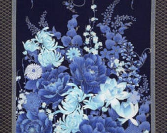 Navy Imperial Garden Panel by Timeless Treasures