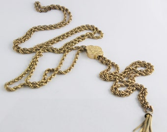 Extra Long Antique 1920's Chain with 14 karat slide