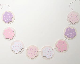 Cookie Banner | cookie decorations, milk and cookies banner, cookie baby shower, cookie birthday, dessert table, cookie theme, sweets
