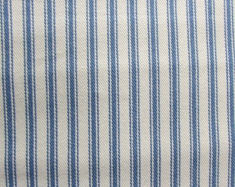 CLASSIC TICKING woven Denim Blue and White multipurpose fabric