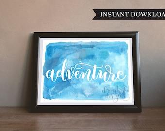 HandLettered Adventure Print