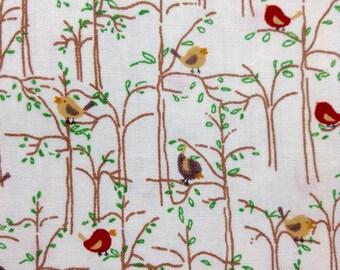 One Half Yard of Fabric Material - Mini Birds