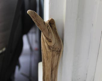 Nature Made Driftwood Hook , Drift Wood Hanger , Unique Natural Home Decor & Art Supply