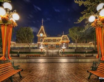 Disneyland Railroad Main Street Station 2, BUY 2 GET 1 8x12 print free !!! Metallic Paper  / Metal Print