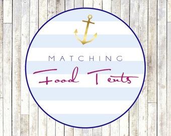 Matching Food / Menu Tent Cards - Printable DIY
