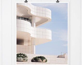 Modern Architecture Art Print, Getty Center Print, Los Angeles print, California wall art, Wall decor, Los angeles art, modern wall decor