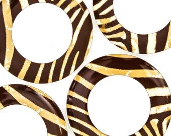 Neiman Marcus Plates, Yu Yu, Canape Plates, Animal Stripe