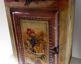 Vintage Pie Tin Safe Bread Box Bin Shelving