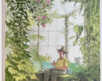 Postcard featuring a famous 'New Yorker' cover. The Botanic Gardens - January 1983. BIG discount for multiple purchases!!