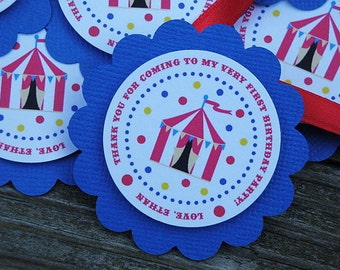 Sweet Little Circus Favor Tags - Set of 12