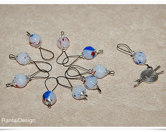 Stitch Markers for knitting Millefiori blobs knitting marker stitch marker Knit