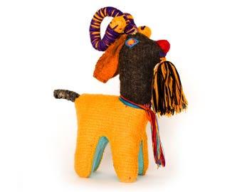 Handmade 100% Wool / Bighorn Sheep / Mexican Folk Toy