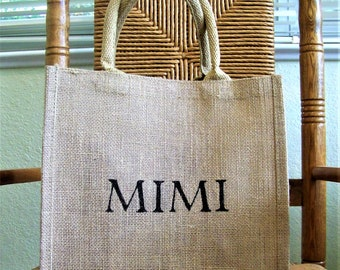 Mimi gift, Mimi tote bag, Personalized tote, Grandparent gift, Mother's day gift, FREE SHIPPING!