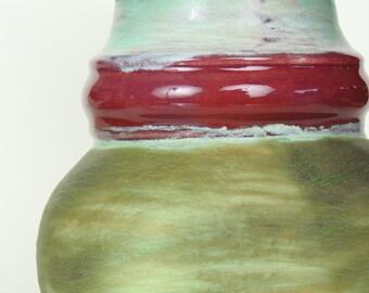 Ceramic Vase Primitive Turquoise Natural Colors