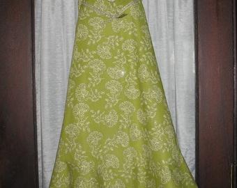 Green Ruffled Apron