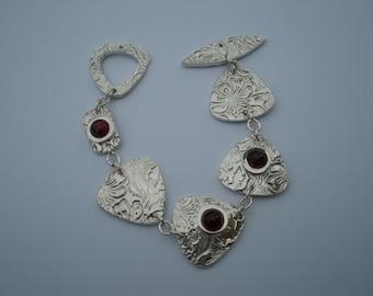Hand Crafted Sterling Silver Linked Bracelet.