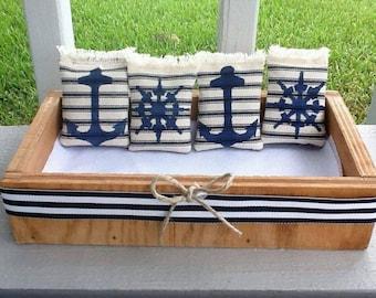 Nautical Lavender Sachets Wedding Favors/Anchors/Ships wheel/wedding gifts/Weddingtreats/lavender pouch