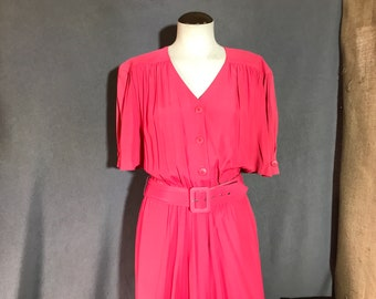 Vintage 1980s Carol Anderson Shirt Dress