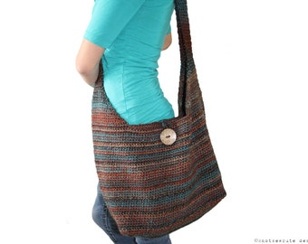 CROCHET PATTERN - A Touch of Africa Shoulder Bag - Instant Download (PDF)