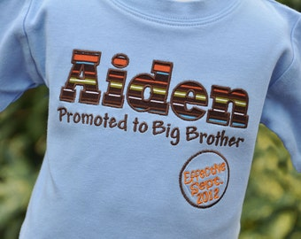 Big Brother to Be Shirt - Boys Pregnancy Announcement Shirt - Big Brother Shirt - Big Brother Promotion - Personalized Big Brother Shirt