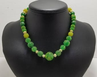 Green Molded Plastic Necklace