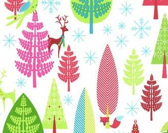 Festive Forest Collection by Tamara Kate WINTER WOODS from Michal Miller Fabrics, yard