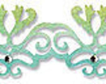 Sizzix Sizzlits Decorative Strip Die 12.625'X2.375'-Filigree Border