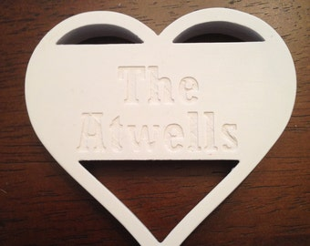 Heart name cookie cutter