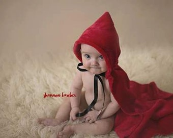 Red Riding Hood cape,photography prop,newborn,sitter,story book,ready to ship