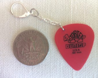 Guitar Pick Earring (Dunlop Red)