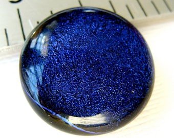 Dichroic Fused Glass Cabochon 26 mm Gothic Purple Beauty