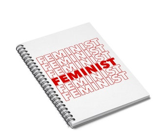 Feminist Notebook | Feminism | Girl Power | Spiral Notebook