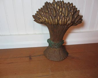 Cast Iron Wheat Sheaves Doorstop, Shabby Chic, Home Decor, Staging, Bookend, Door Stop, Farmhouse