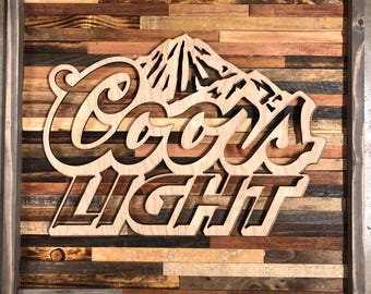 Rustic Coors light wall art
