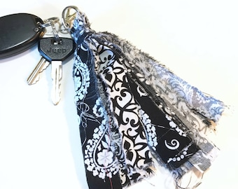 Fabric Tassel Key Chain FOB Journal Charm Backpack Purse Planner - UPCP