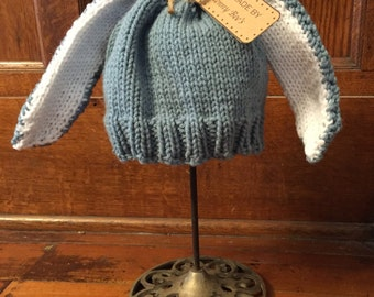 Knit Bunny Hat for Baby or Toddler