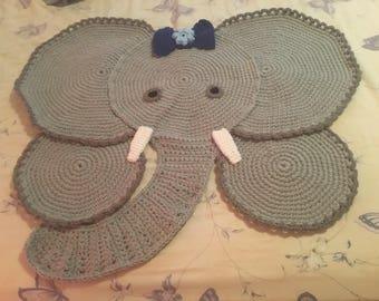 Ellie the elephant rug