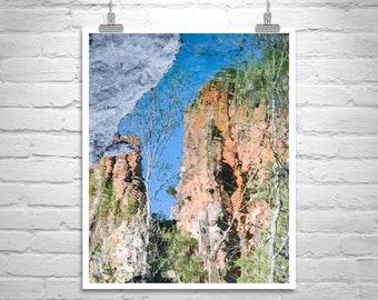 Abstract Nature Art, Water Art, Abstract Photography, Water Reflections, Fine Art Photography, Wilderness Art, Water Ripples, Southwest Art