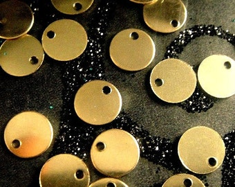 Gold Filled Discs, 10 pcs- 28g, 6mm 14k Gold Filled Sequin Discs
