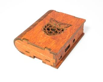 PiBerry Book Case for Raspberry Pi 3B+, 3, Pi2 & B+ -Gunstock Berry