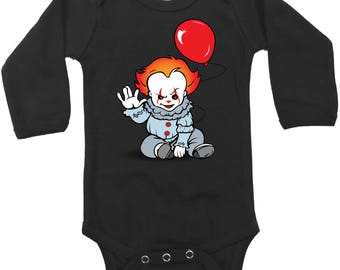 Halloween Baby Clothing- Pennywise - It - Halloween Outfit - Baby Clothing - Horror Clothing - Stephen King-Gift