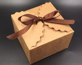 50pcs/lot 9*9*6cm Brown Packaging Kraft Paper Gift Box For Candy\Cake\Jewelry\Gift\chocolate\Party Packing boxes
