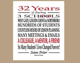 Teacher Retirement Gift, Retired Teacher Gift, Teacher Appreciation Gift, Teacher Gift, Retirement Gift - PDF Digital File