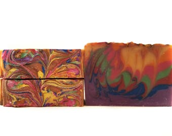 Loopy Rainbow Handmade Soap / Fruit Loops / Handmade Soap / Bar Soap / Stocking Stuffers / Christmas Gift / Gift for Her / Gift for Him