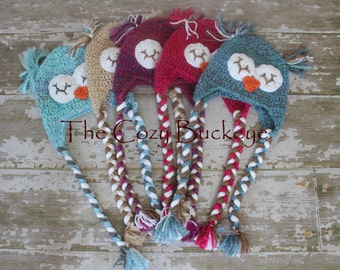 Instant Download Crochet Pattern - The Sleepy Owl Hat - Animal Character Hat
