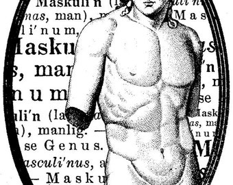 EZ Mounted Rubber Stamp 1700s Man Torso Statue Masculin Background Writing Altered Art Craft Scrapbooking Cardmaking Collage Supply.