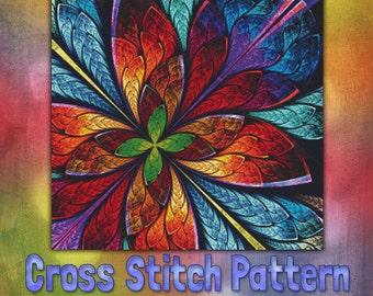 Monarch in the Sky Cross Stitch Pattern Patterns Instant Download pdf Cross Stitch Design