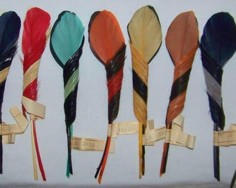 Vintage Millinery Feather Hat Trim NOS Fancy Spiral #3603