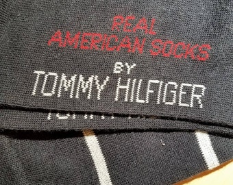 CLASSICzVINTAGE   Socks    80's early 90's        by TOMMY HILFIGER       Never Worn,    Still With Tags On